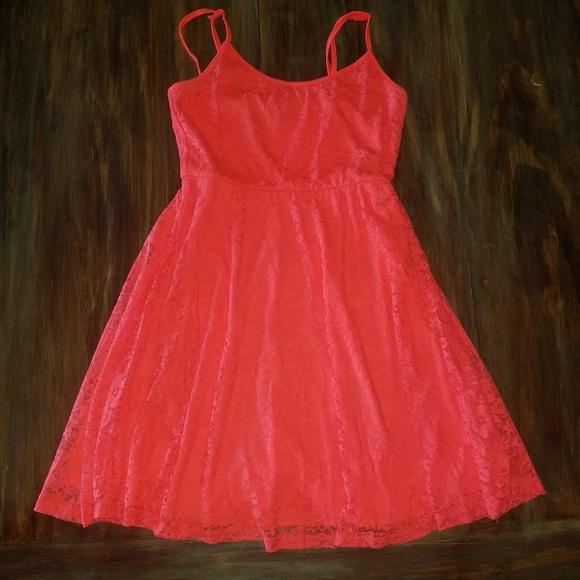 Rue21 Dresses & Skirts - BRIGHT Orange Lace Dress